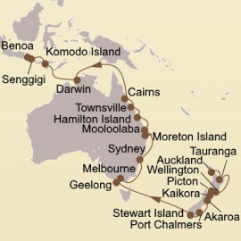 New Zealand and Coral Sea Jewels Seabourn Cruise