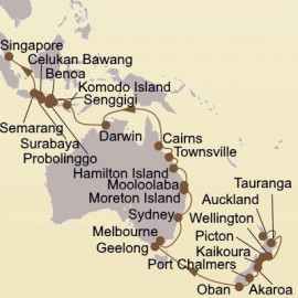 Southern Cross and Orchid Isles Itinerary