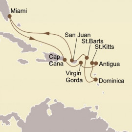 Caribbean Treasures Itinerary