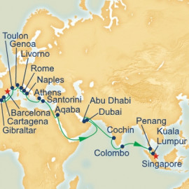 Barcelona to Singapore Itinerary