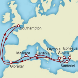 Greece Turkey and Gibraltar Cunard Cruise