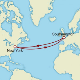Roundtrip Transatlantic Crossing Cunard Cruise