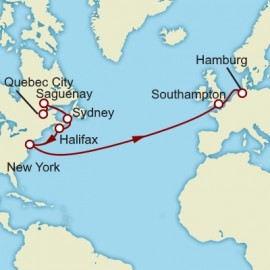 Quebec Halifax and Transatlantic Itinerary