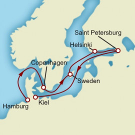 Skandinavien and Russland Itinerary