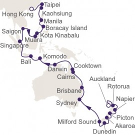 Auckland to Hong Kong Cruise