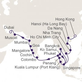 Hong Kong to Dubai World Sector Regent Seven Seas Cruises Cruise