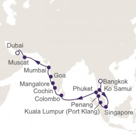 Bangkok to Dubai World Sector Itinerary