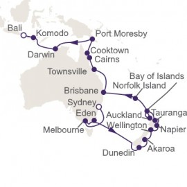 Sydney to Bali World Sector Regent Seven Seas Cruises Cruise