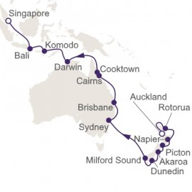 Auckland to Singapore Itinerary