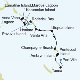 Honiara to Port Vila Itinerary