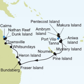 Port Vila to Cairns Itinerary