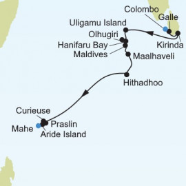 Colombo to Mahe Itinerary