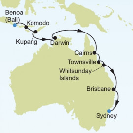 Benoa to Sydney Itinerary
