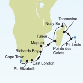 Cape Town to Port Louis Itinerary