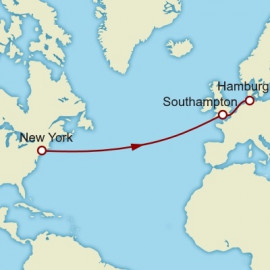 Eastbound Transatlantic Crossing to Hamburg  Itinerary