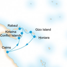 Solomon Sea Islands Itinerary