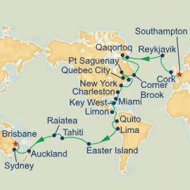 World Cruise Southampton to Brisbane Sector Princess Cruises Cruise