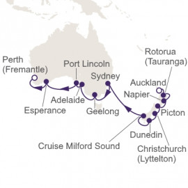 Auckland to Fremantle Itinerary