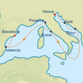 Mediterranean and Adriatic Itinerary