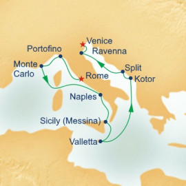 Western Mediterranean and Adriatic Connoisseur Itinerary