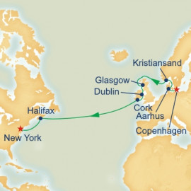 British Isles and Norway Passage Itinerary