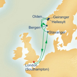Norwegian Fjords and Summer Solstice Itinerary