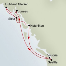 Roundtrip Seattle Holland America Line Cruise