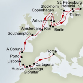 Baltic Jewls and Iberian Adventure Itinerary