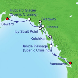 Southbound Alaska and Hubbard Itinerary