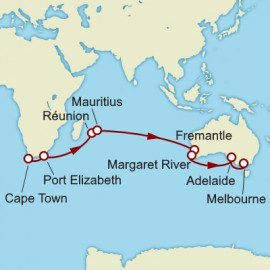 Cape Town to Melbourne World Sector Cruise