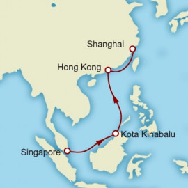 Singapore to Shanghai World Sector Itinerary