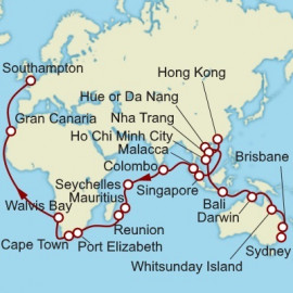 Sydney to Hamburg World Sector  Itinerary