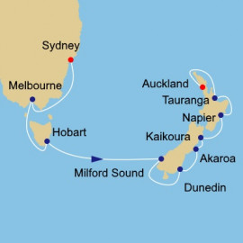 Australia and New Zealand Voyage Itinerary