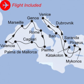 Grand Mediterranean Fly Itinerary
