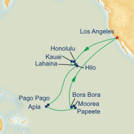 Hawaii and Tahiti and Samoa Itinerary