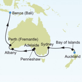 Auckland to Bali Itinerary