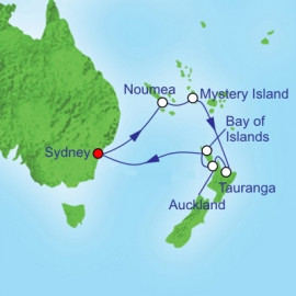 South Pacific and New Zealand Itinerary