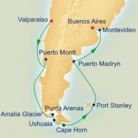 Cape Horn and Strait of Magellan Itinerary