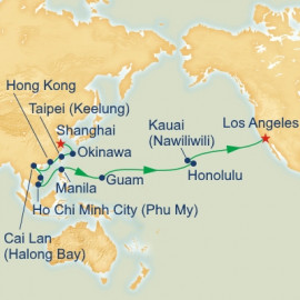 Circle North Pacific Shanghai to Los Angeles Itinerary