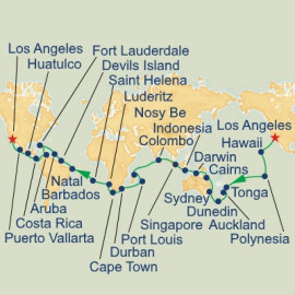 World Cruise Roundtrip Los Angeles Itinerary