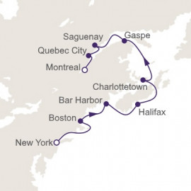 New York City to Montreal Regent Seven Seas Cruises Cruise