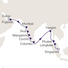 Dubai to Singapore Regent Seven Seas Cruises Cruise
