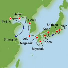 China South Korea Japan from Shanghai Itinerary