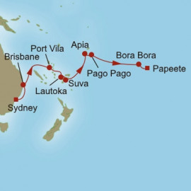 Shimmering South Pacific Itinerary