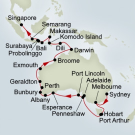 Southern Ocean and East Indies Holiday  Itinerary