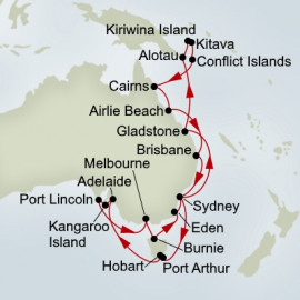 South Australia Discovery and Melanesia Collector Holland America Line Cruise