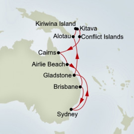 Australia and Melanesia Itinerary