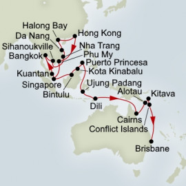 Southeast Asia and Spice Island Navigator  Itinerary