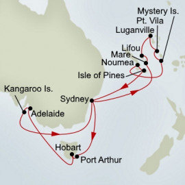 Pacific Treasures and South Australia Holiday Holland America Line Cruise