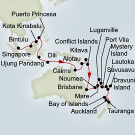 Spice Island and Pacific Odyddey  Itinerary